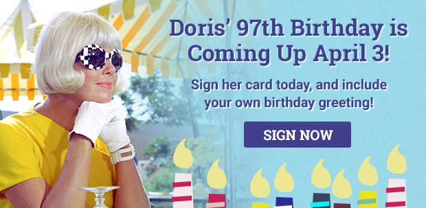 Sign Doris' Birthday Card